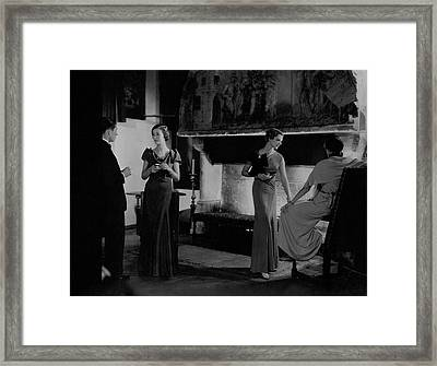 Mlle. Koopman Wearing A Marocain Dress Framed Print by George Hoyningen-Huen?