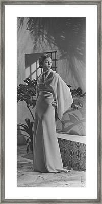 Mlle. Koopman Wearing Augustabernard Framed Print by George Hoyningen-Huen?