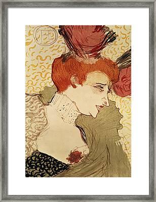 Mlle Marcelle Lender Framed Print by Henri de Toulouse-Lautrec