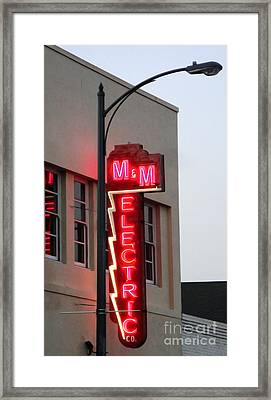 Mm Electric Framed Print