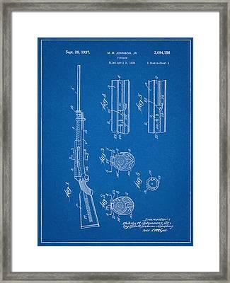 M.m. Johnson Firearm Patent Framed Print by Decorative Arts