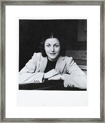 Mme. Geori-boue Wearing A Jacket Framed Print by Horst P. Horst