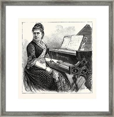 Mme. Julia Rive-king, American Pianist And Composer Framed Print by American School