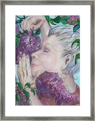 Mmmm Lilacs Framed Print by Barbara McGeachen