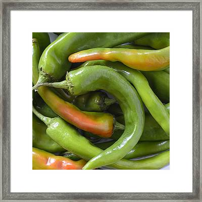 Mmmmm Hatch Chilies Framed Print by Loree Johnson