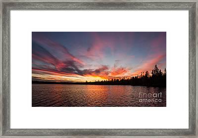 Mn Sunset Symphony Framed Print