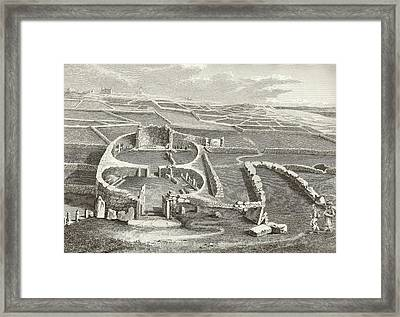 Mnajdra Megalithic Temple Framed Print by Middle Temple Library