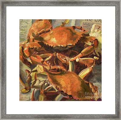 Mo Crabs Framed Print by John Albrecht