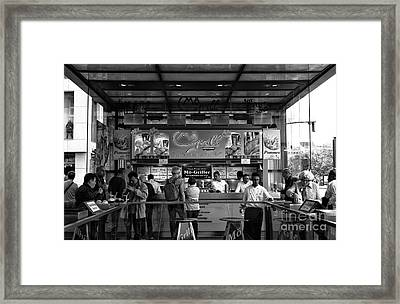 Mo Grill Mono Framed Print
