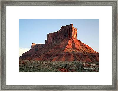 Framed Print featuring the photograph Moab At Sundown by Edward R Wisell