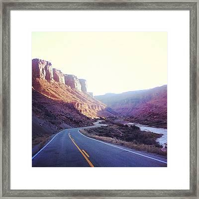 #moab #delivers  #welcomeback Framed Print
