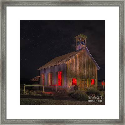 Moab One Room Schoolhouse Framed Print by Jerry Fornarotto