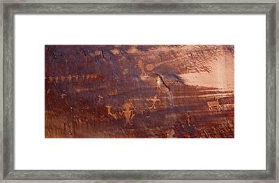 Moab Petroglyph Framed Print