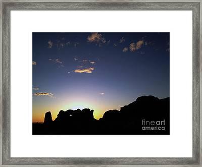 Moab Sunset Framed Print