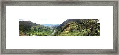 Moanalua Saddle Framed Print by Bryan Hurlbut