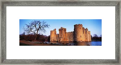 Moat Around A Castle, Bodiam Castle Framed Print by Panoramic Images