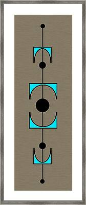 Mobile 1 In Turquoise Framed Print