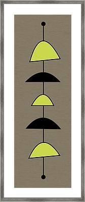 Mobile 2 In Green Framed Print