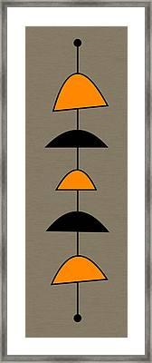 Mobile 2 In Orange Framed Print