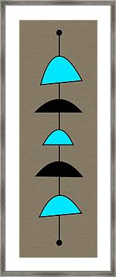 Mobile 2 In Turquoise Framed Print