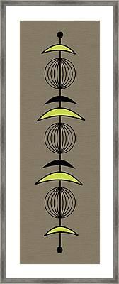Mobile 3 In Green Framed Print