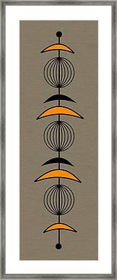 Mobile 3 In Orange Framed Print