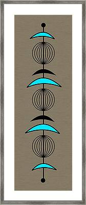 Mobile 3 In Turquoise Framed Print