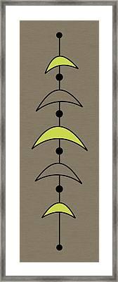 Mobile 4 In Green Framed Print