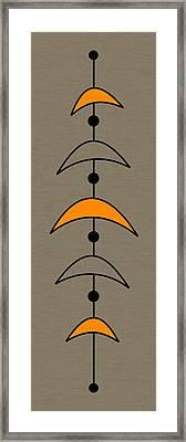 Mobile 4 In Orange Framed Print