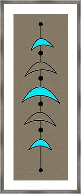 Mobile 4 In Turquoise Framed Print