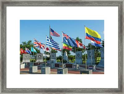 Mobile, Alabama, Korean Memorial Framed Print