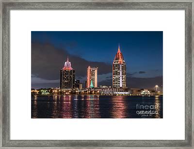 Mobile Alabama Skyline Framed Print by Phil Floyd
