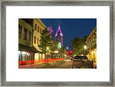 Mobile, Alabama, Traffic On Dauphin Framed Print by Bill Bachmann