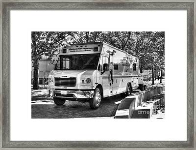 Mobile Command Center Bw Framed Print