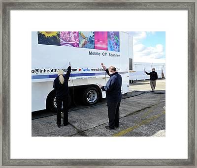 Mobile Ct Scanner Testing Framed Print