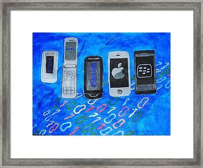 Mobile Evolution Framed Print by Melissa Nowacki