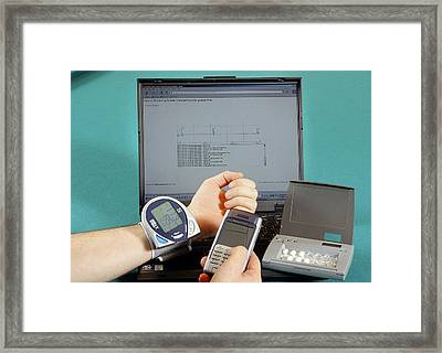 Mobile Healthcare Devices Framed Print by Ibm Research