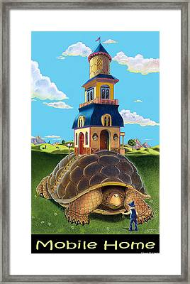 Framed Print featuring the mixed media Mobile Home With Caption by J L Meadows
