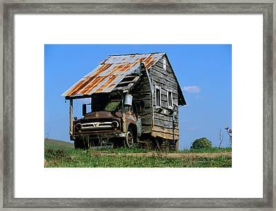 Mobile Home Made Rv Camper Using Framed Print