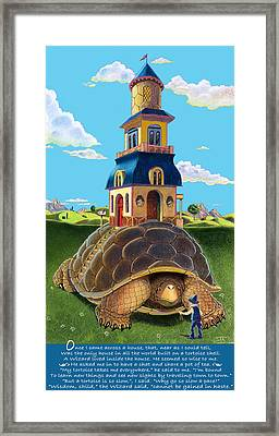 Mobile Home Plus Poem Framed Print by J L Meadows