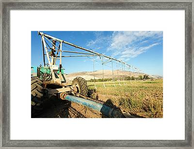 Mobile Irrigation Robot Framed Print by Photostock-israel
