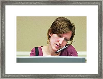 Mobile Phone Use Framed Print