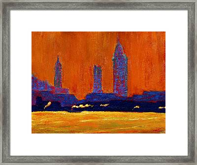 Mobile Skyline August Morning Light Framed Print