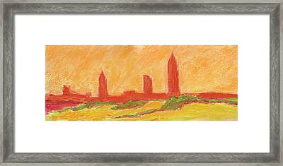 Mobile Skyline Early Summer Morning Framed Print