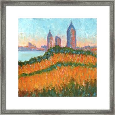 Mobile Skyline From Felixs Framed Print by Vernon Reinike