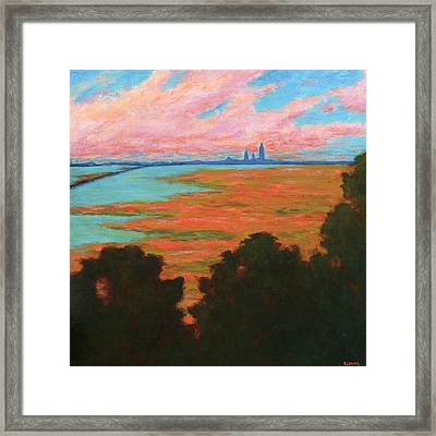 Mobile Skyline From The Eastern Shorte Framed Print