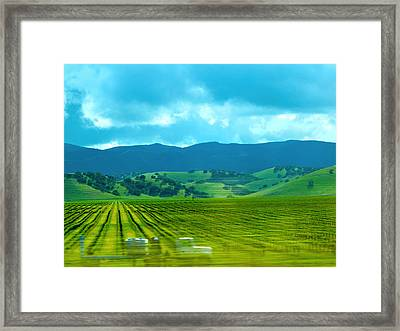 Mobile Transport Framed Print by Kathy Corday