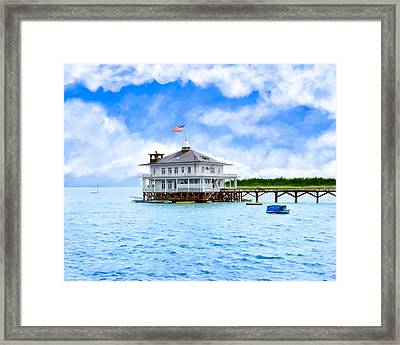 Mobile Yacht Club - Historic Alabama Coast Framed Print
