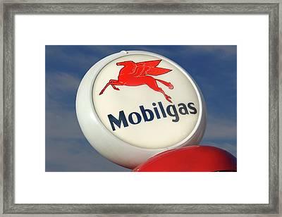 Mobilgas Globe Framed Print by Mike McGlothlen