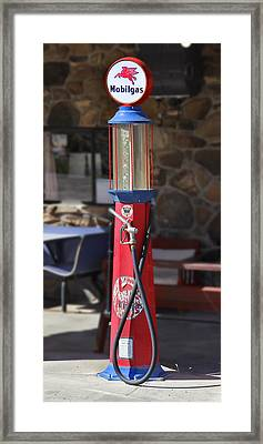 Mobilgas Visible Gas Pump Framed Print by Mike McGlothlen